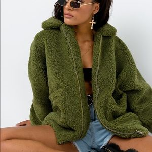 I Am Gia pixie faux shearling teddy jacket
